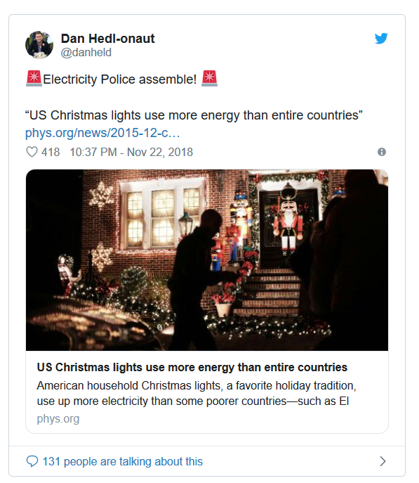 Dan's tweet about energy consumption