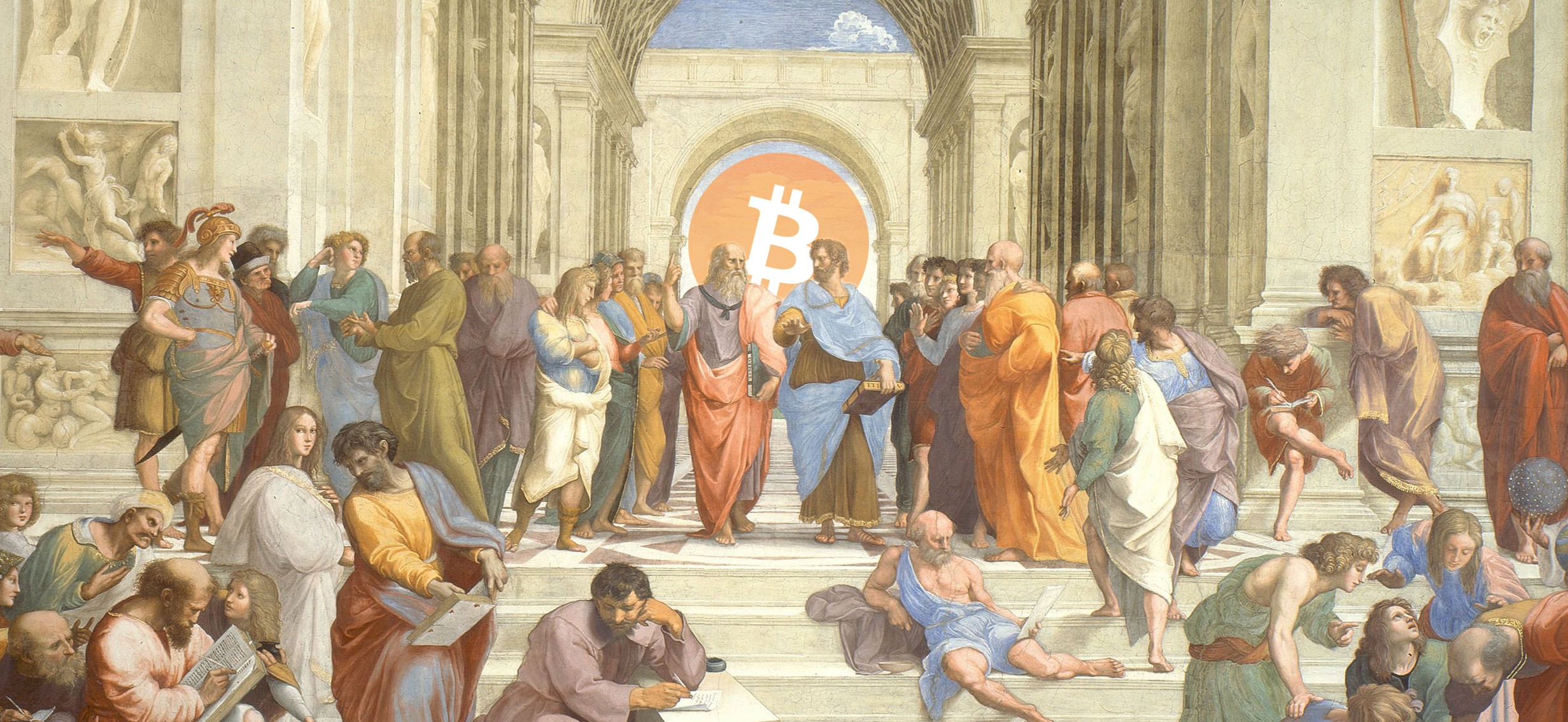 header romans with bitcoin